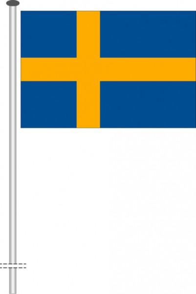 Schweden als Querformatfahne