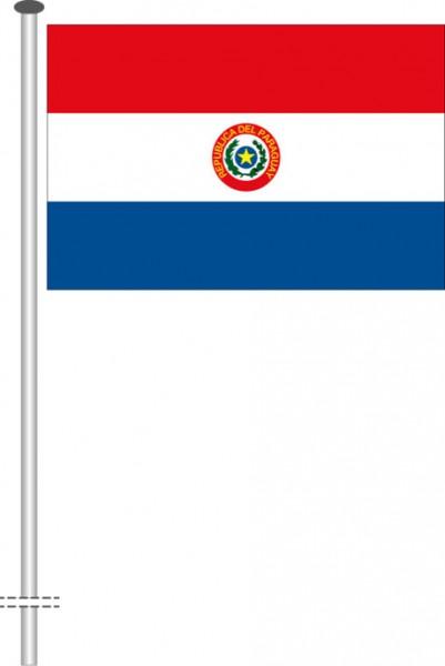 Paraguay als Querformatfahne