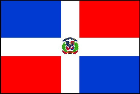 Dominikanische Republik als Fanfahne