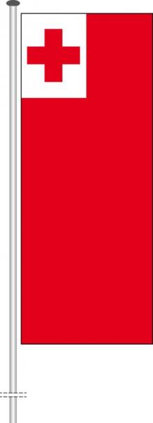 Tonga als Hochformatfahne