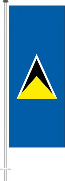 St. Lucia als Hochformatfahne