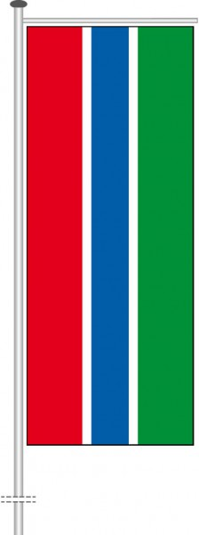 Gambia als Auslegerfahne