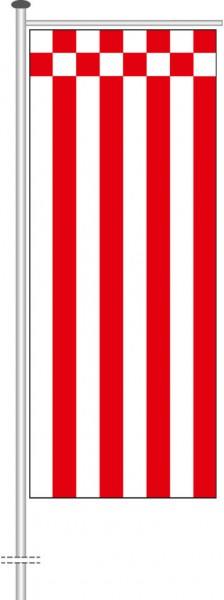 Bremen - Streifenflagge als Auslegerfahne