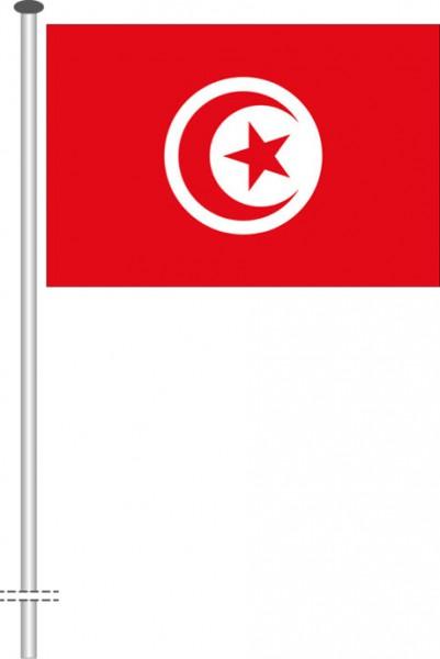 Tunesien als Querformatfahne