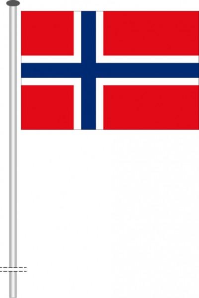 Norwegen als Querformatfahne