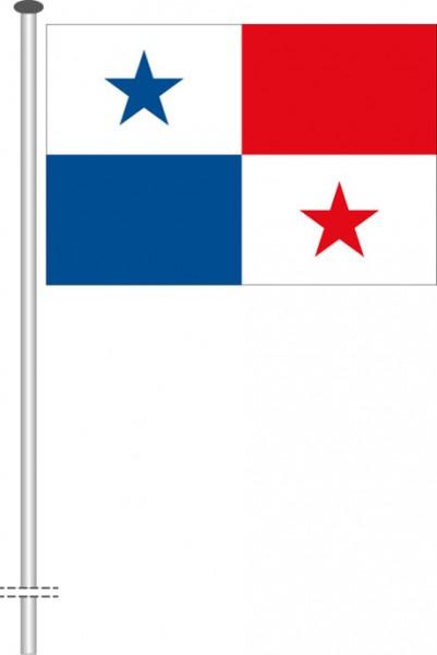 Panama als Querformatfahne