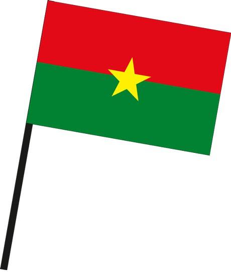 Burkina Faso als Stockfahne