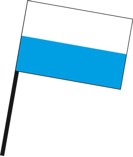 Bayern - Streifenflagge als Stockfahne