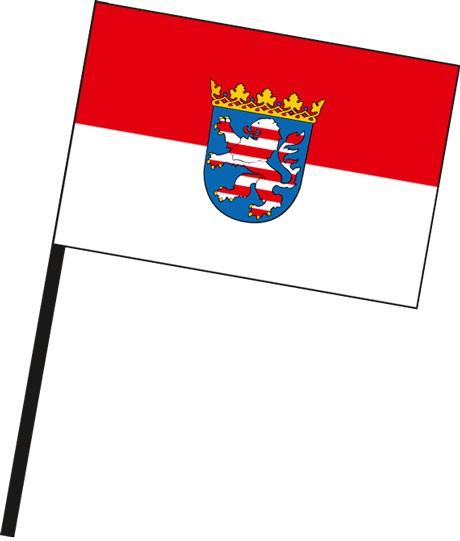 Hessen - Dienstflagge als Stockfahne