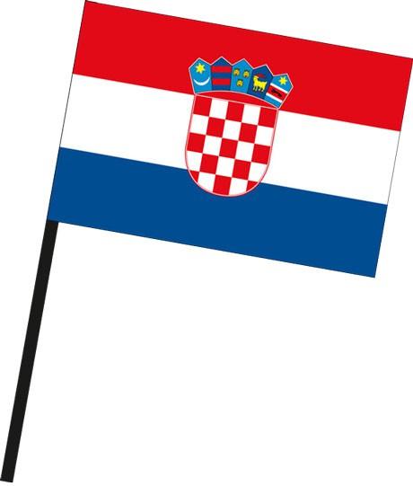 Kroatien als Stockfahne