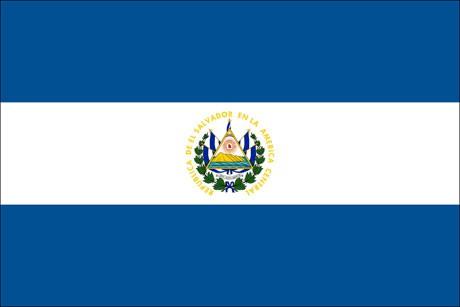 El Salvador als Fanfahne