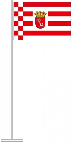 Bremen - Dienstflagge als Tischfahne