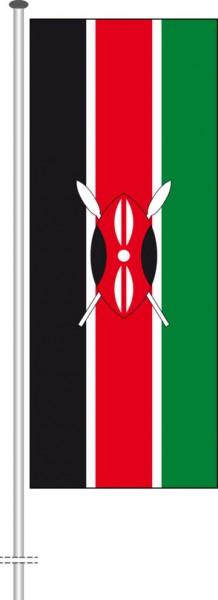 Kenia als Hochformatfahne