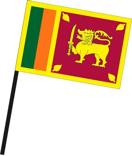 Sri Lanka als Stockfahne