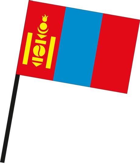 Mongolei als Stockfahne