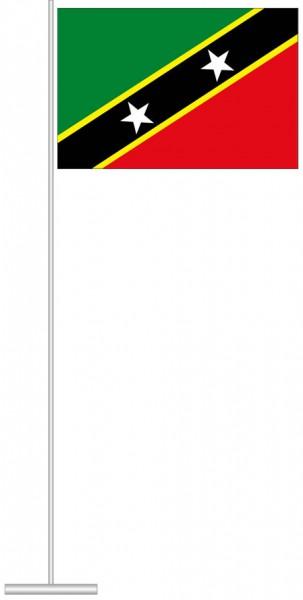 St. Kitts und Nevis als Tischfahne
