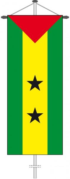 Sao Tome und Principe als Bannerfahne