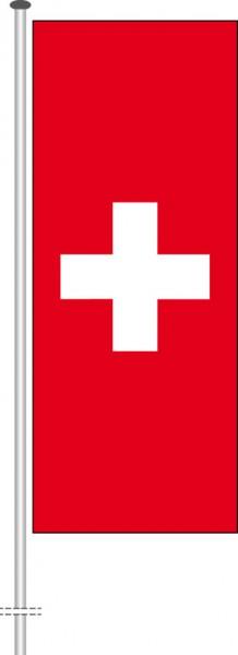 Schweiz als Hochformatfahne