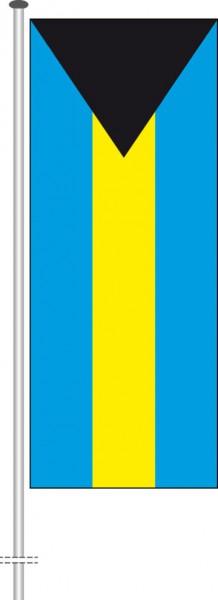 Bahamas als Hochformatfahne