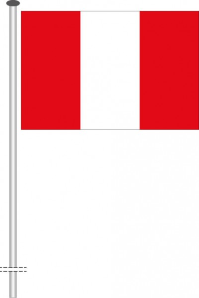 Peru als Querformatfahne