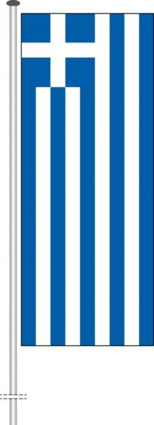 Griechenland als Hochformatfahne