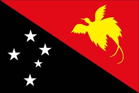 Papua-Neuguinea als Fanfahne