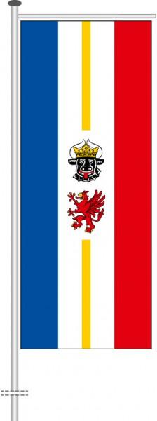 Mecklenburg-Vorpommern - Dienstflagge als Auslegerfahne