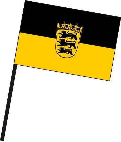 Baden-Würtemberg - Dienstflagge als Stockfahne