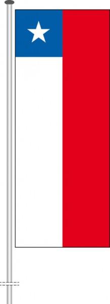 Chile als Hochformatfahne