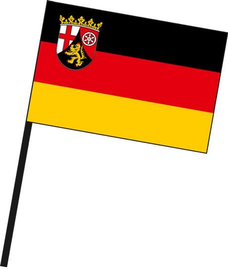 Rheinland-Pfalz - Bürgerflagge als Stockfahne