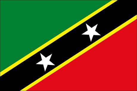 St. Kitts und Nevis als Fanfahne
