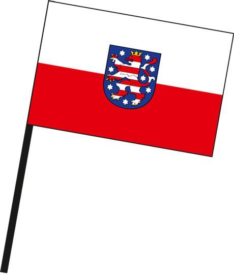 Thüringen - Dienstflagge als Stockfahne